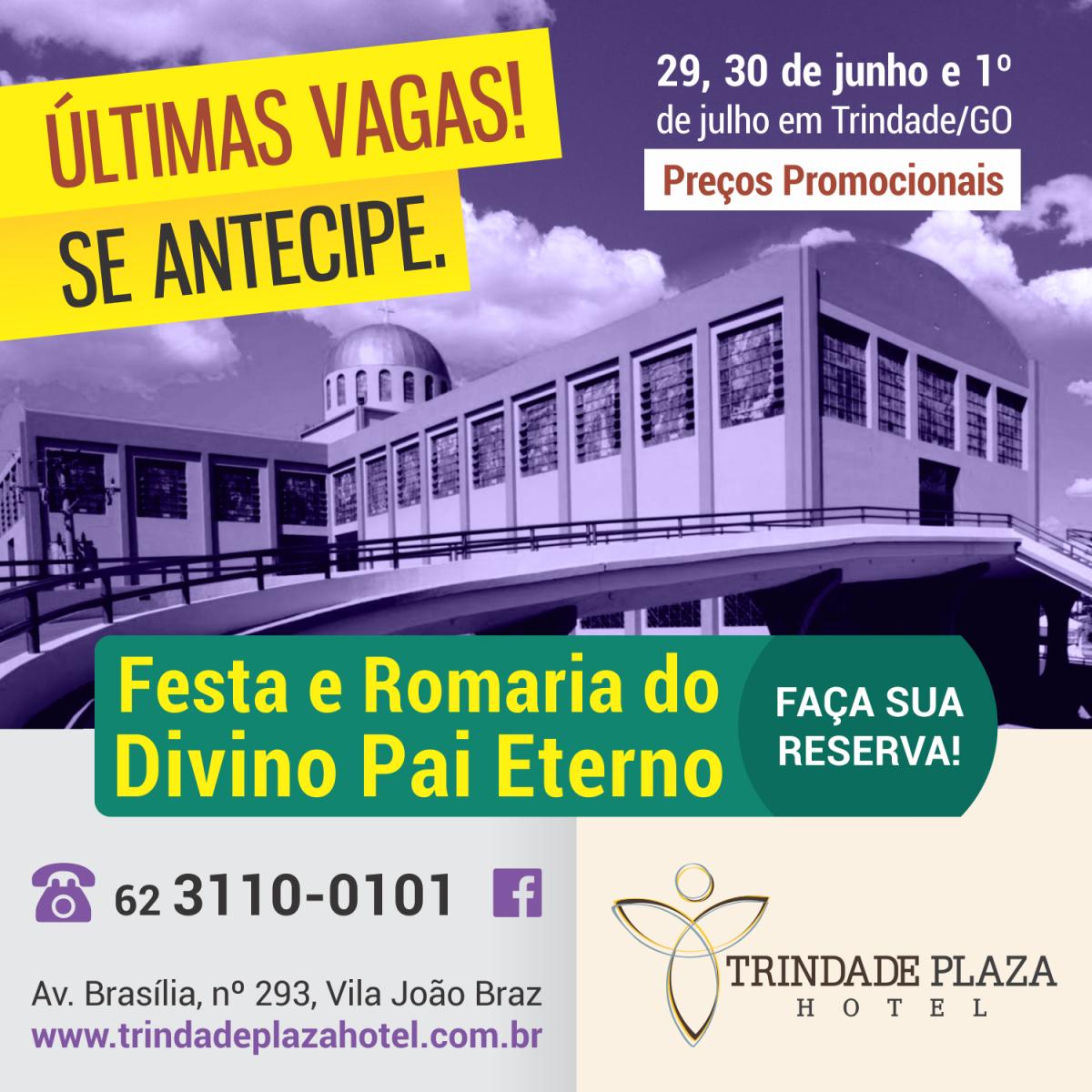 Flyer - Promoção para Festa e Romaria do Divino Pai Eterno